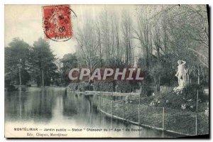 Old Postcard Montelimar Public Garden Statue Hunter I age Bouval