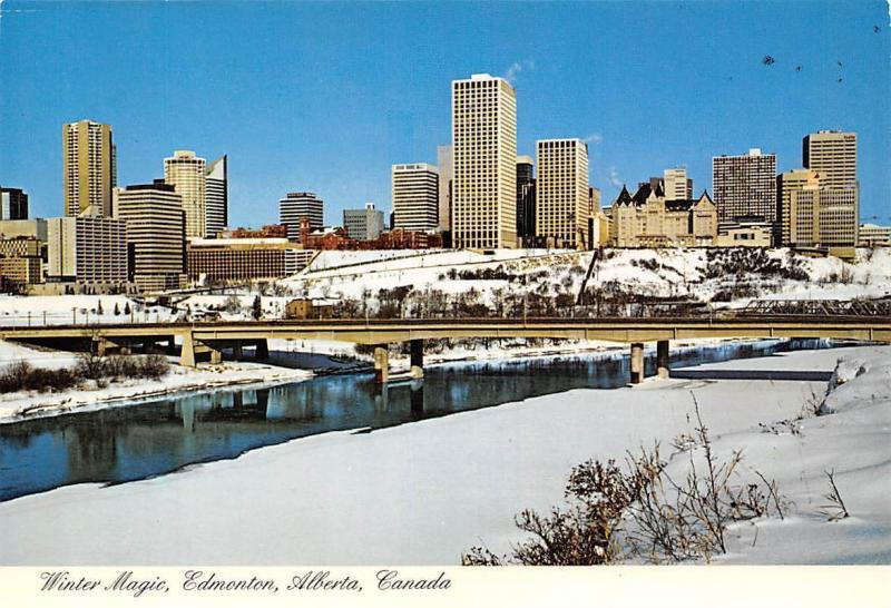 Canada Winter Magic Edmonton Alberta Bridge River