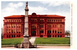 Iowa  Davenport High School and Soldiers Monument