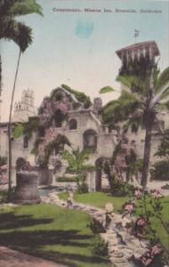 California Riverside The Campanario Mission Inn Handcolored Albertype