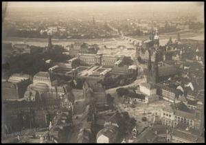 Germany Dresden Zwinger Altstadt Castle Aerial View circa WWI Original Pho 69666