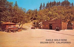 Julian City California Eagle Gold Mine Street View Vintage Postcard K51545