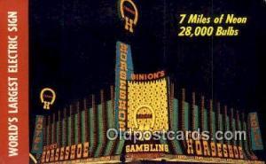 Binion's Horseshoe Hotel & Casino, Las Vegas, NV, USA Motel Hotel Postcard Po...
