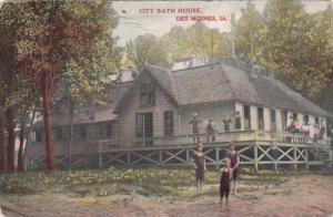 Iowa Des Moines City Bath House 1909