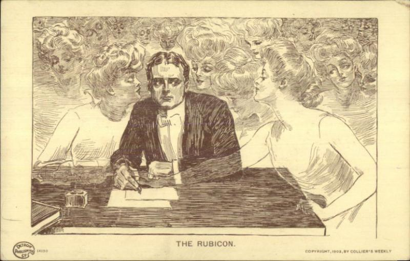 Man at Desk Writing Letter - Images of Beautiful Women Fantasy THE RUBICON