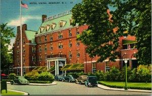 Vtg Leinen Postkarte NEWPORT Rhode Island Ri - Hotel Viking Unp