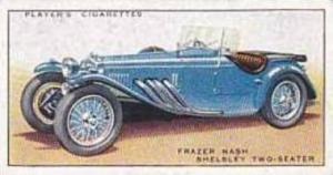 Player Vintage Cigarette Card Motor Cars 1st Series 1936 No 20 Frazer Nash Sh...