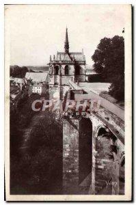 Old Postcard Chateaux of the Loire Chateau Amboise La Chapelle St Hubert