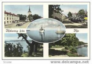 1 PC,5 Views,Water,Halsning fran,Hjo,1940-60s Sweden   LIGHTHOUSE