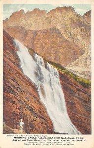 Glacier morning Eagle falls National Park Writing on Back