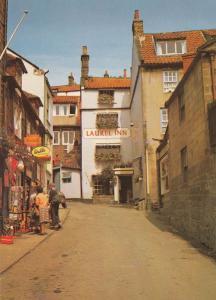 Station Road Robin Hoods Bay Gift Shop Laurel Inn Postcard