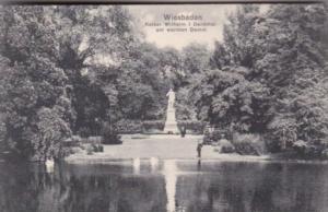Germany Wiesbaden Kaiser Wilhelm I Denkmal am warmen Damm