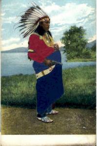Indian, Indians, Postcard Postcards  Silk Postcard