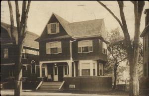 Pretty Home - Medford MA Cancel c1910 Real Photo Postcard