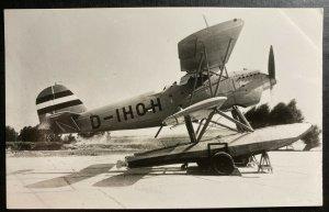 Mint Netherlands Real Picture Postcard Heinkel Seaplane Of German Marine