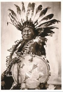 Rain-In-The-Face Hunkpapa Sioux Indian Warrior ca 1902 Western USA Recent Print