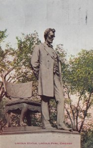 CHICAGO, Illinois, 1909; Lincoln Statue , Lincoln Park