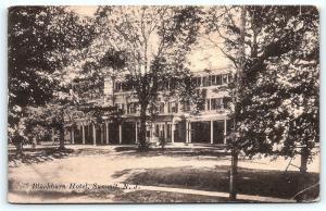 Postcard NJ Summit 1919 View of Blackburn Hotel F02