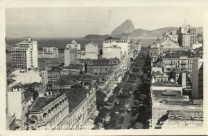 brazil, RIO DE JANEIRO, Avenida Rio Branco (1950) RPPC