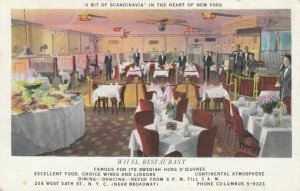 NEW YORK CITY, New York, PU-1935; Wivel Restaurant, A bit of Scandonavia