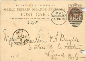 Entier Postal Stationery Postal Great Britain Great Britain 1879 Manchester t...