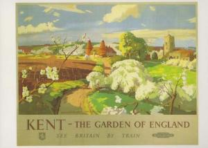 Kent The Garden Of England See Britain By Train Poster Advertising Postcard