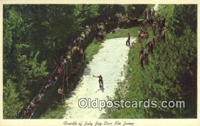 Jay Cees Ski Jump Fourth Of July, Lake Placid, NY USA Skiing Unused close to ...