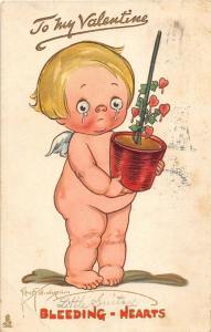 F12/ Valentine's Day Love Holiday Postcard c1913 Grace Wiederseim Cry 9