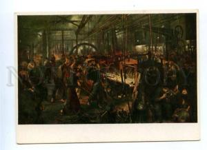 153973 Steel Rolling Mill by Adolph MENZEL Old color PC