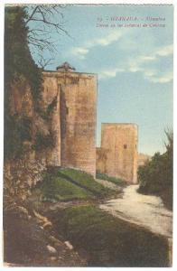Alhambra, Torres De Los Infantas De Cautiva, Granada (Andalucia), Spain, 1900...