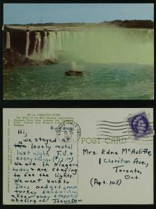 Maid of the Mist approach Terrapin Point Niagara Falls 1957