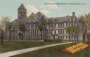 Iowa Cedar Rapids Washington High School 1912 Curteich