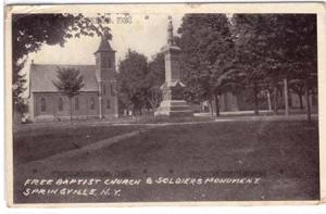Free Baptist Church & Soldiers Monument, Springville NY