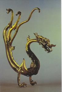 Chinese Relics Gold Coated Dragon Tang Dynasty Splendid China Kissimmee Florida