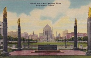 Public Library From War Memorial Plaza Indianapolis Indiana