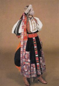 Romania Bridal Costume Transylvania London Museum Exhibit Fashion Postcard