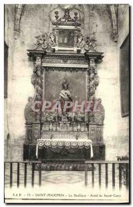 Old Postcard St. Maximin Basilica Altar of Sacre Coeur