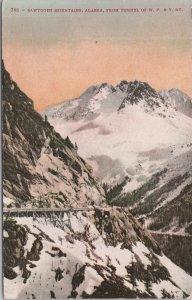 Sawtooth Mountains, Alaska, from Tunnel of White Pass & Yukon Ry.