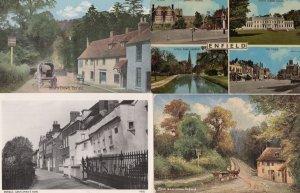 Gentlemans Row Rose & Crown Enfield 4x Postcard s