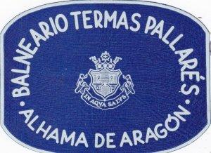 Spain Aragon Balneario Termas Pallares Luggage Label sk4543