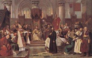 Czech Republic , 00-10s ; Mistr Jan Hus pred koncilem v Kostniei r. 1415