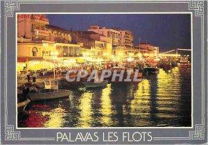 Modern Postcard Palavas Night atmosphere at the Quai P Cunq we chose France a...