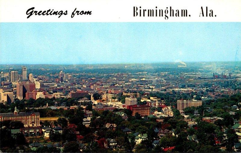 Alabama Birmingham Greetings Showing Skyline