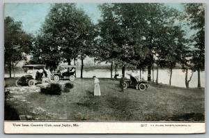 Joplin Missouri~Creek From Country Club~Vintage Autos Gather~1910 CU Williams