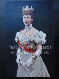 Old PC Queen Alexandra Photo by W S Stuart Oilograph Artist M Klang (Paper Thin)