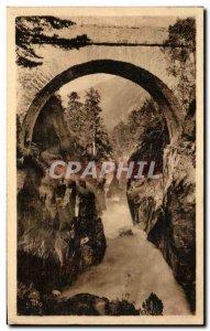 Old Postcard Around Cauterets Chasm Bridge d & # 39Espagne