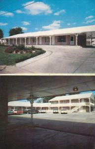 COLUMBIA, Missouri; 2-Views, The Stephens Motel, Classic Cars, 1940-60s