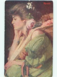 Divided-Back PRETTY WOMAN Risque Interest Postcard AA8321
