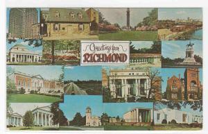 Richmond Virginia Multi View postcard