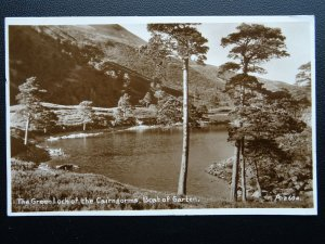 Scotland BOAT OF GARTEN The Green Loch of the Cairngorms c1935 RP Old Postcard